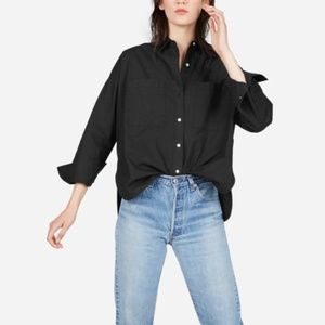 Everland The Cotton Two Pocket Shirt Top Black 0